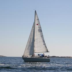Båt på västkusten